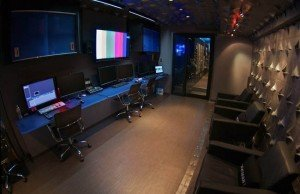 The interior of Silverdraft's MobileVIZ, a comprehensive on-set service system - on wheels. Courtesy of Silverdraft.