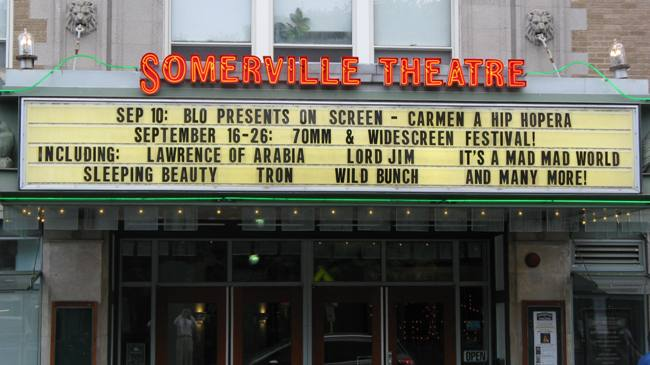 The Somerville's marquee