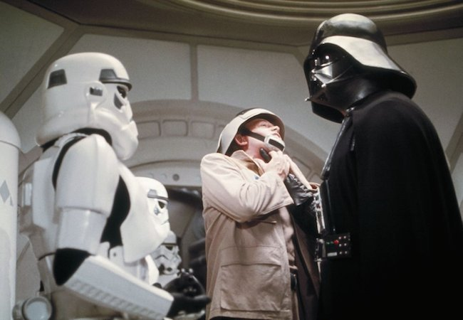 David Prowse as Darth Vader in Star Wars IV: A New Hope