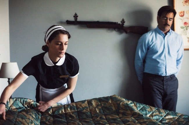 Ariane Labed and Farrell in The Lobster