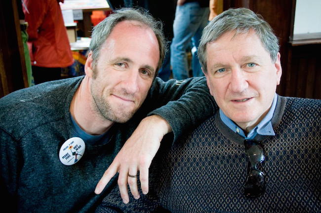 Director David Holbrooke and his father, Richard