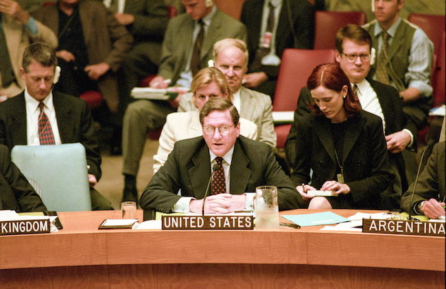 Richard Holbrooke speaking at a UN conference