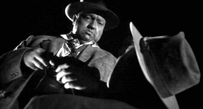 Police Captain Hank Quinlan (Welles) in Touch of Evil.