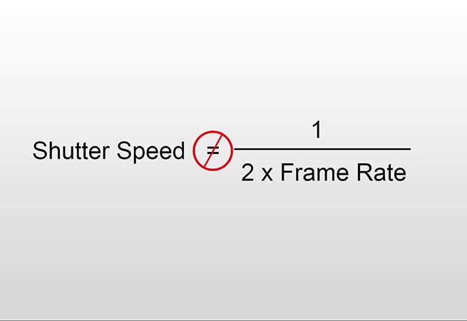 Need For Speed: Don't Write Off Using Differing Shutter Speeds In