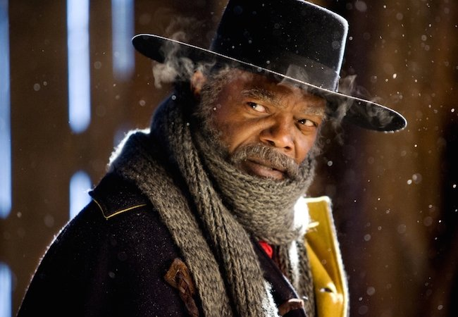 Samuel Jackson as Maj. Marquise Warren in The Hateful Eight. © 2015 – The Weinstein Company